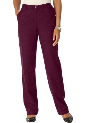 Jessica London Women's Plus Size Tall Wool Pants With Pleat Front