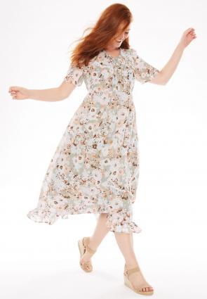 Pintuck print dress
