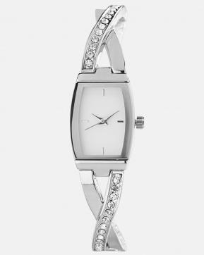 Criss cross banglette link watch