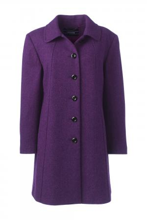 Lands End Womens Plus Size A-Line Coat