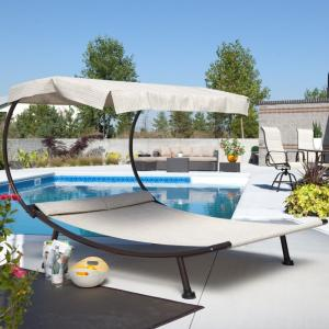 Captivating Coral Coast Del Rey Double Chaise Lounge With Canopy