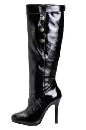 Black lingerie boots