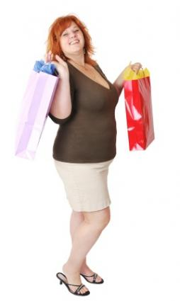 Woman on a successful shopping trip