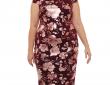 Weslee Rose Short Sleeve Floral Sheath Dress-Plus