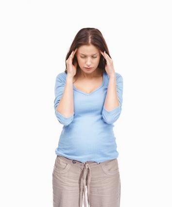 Pregnant woman with headache