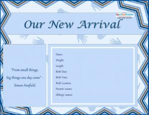 printable birth announcements lovetoknow