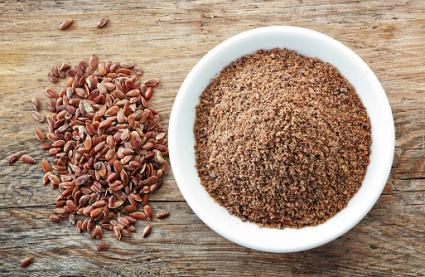 Crushed flax seeds