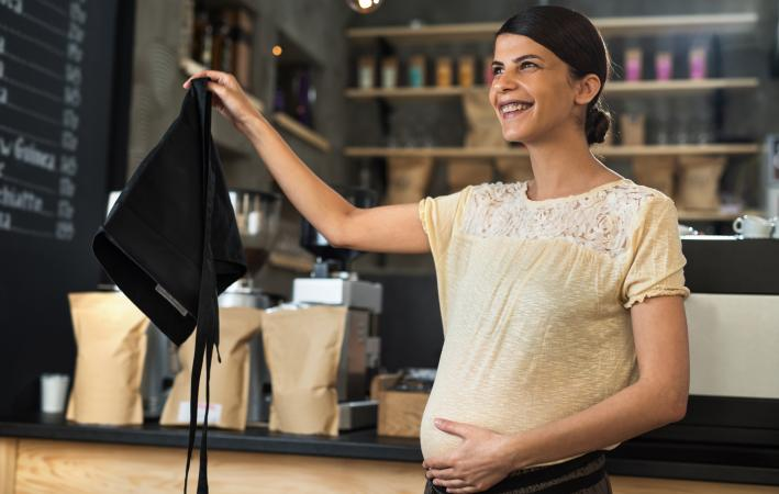 barista going on maternity leave