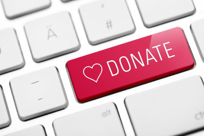 Online donate key