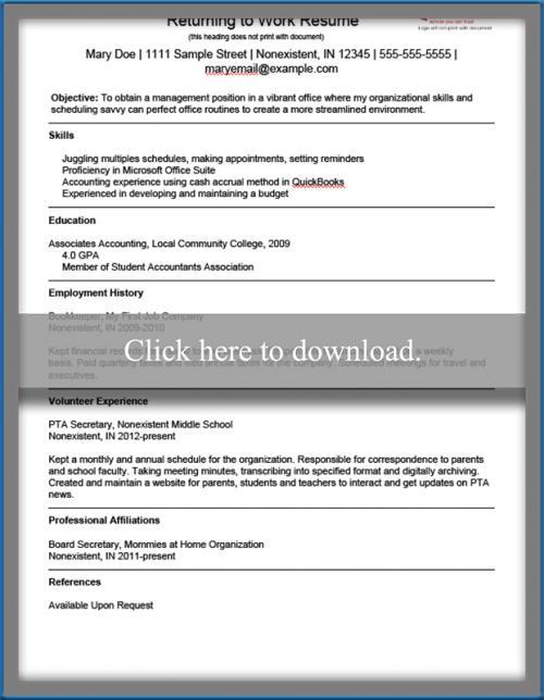 Returning-to-Work-Resume-thumbnail