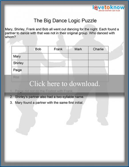 The Big Dance Logic Puzzle thumbnail