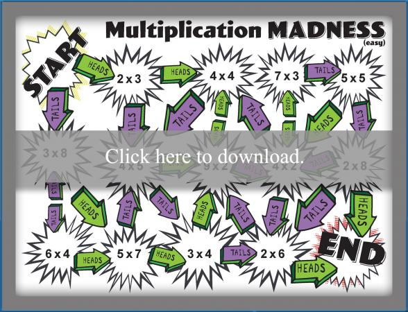 Multiplication Madness Printable Game