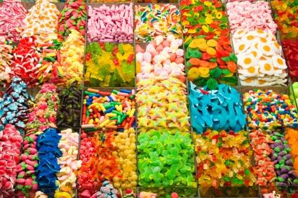 Many kinds of candy