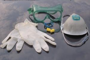 protective wear for working with chemicals