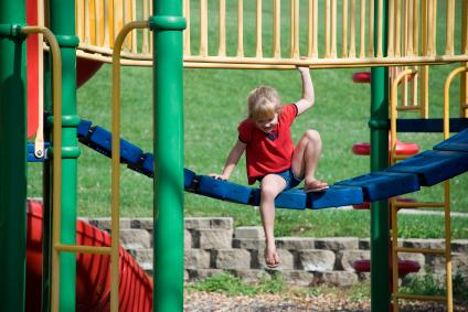 A fun day at the playground.