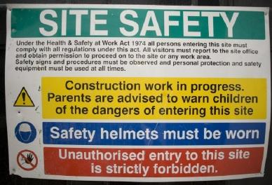 workplace safety label