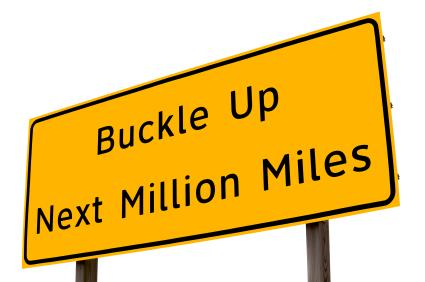 Sign Buckle Next Million Miles
