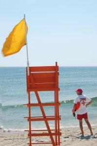 A lifeguard on a beach