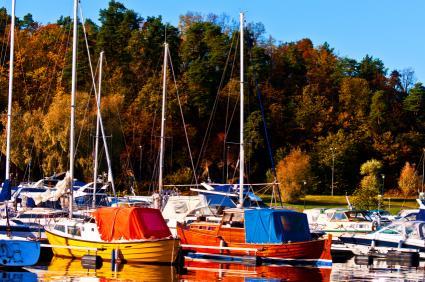 autumn boating