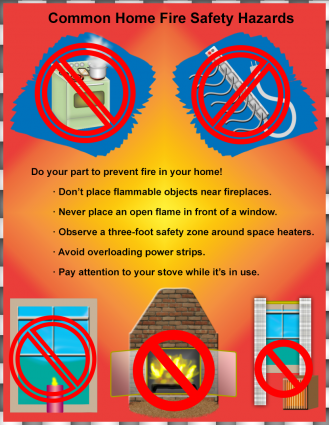 Home Fire Safety Poster