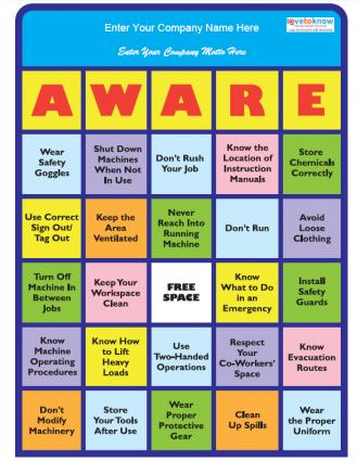 Ideas Bingo Prizes http://safety.lovetoknow.com/Creative_Workplace_Safety_Ideas