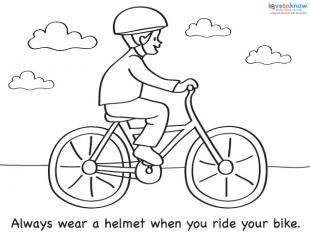Bicycle Safety Coloring Sheet