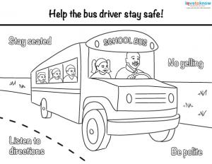 Worksheet Bus Safety Worksheets back to school safety worksheets click print bus coloring page