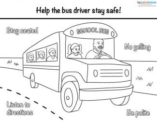 Worksheet Bus Safety Worksheets bus safety printables good passenger coloring page