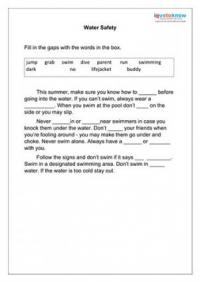 Printables Water Safety Worksheets summer safety lesson plans water worksheet