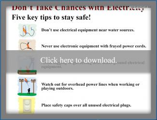Electronic safety poster list