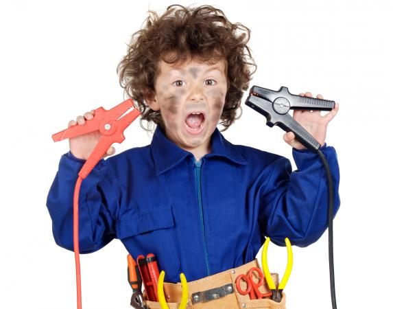 Electricity safety kid