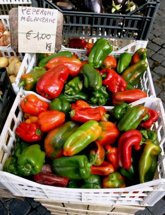 peppers at the market