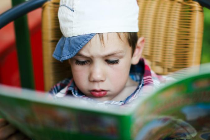 boy with magazine