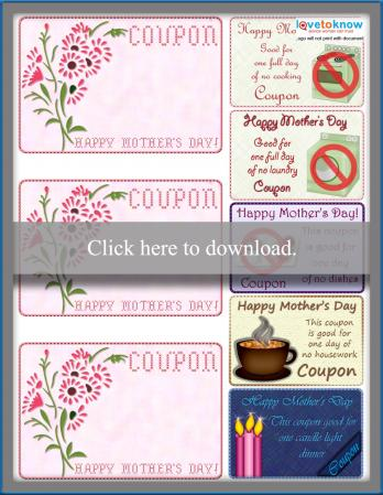 Homemade Mother's Day Coupons