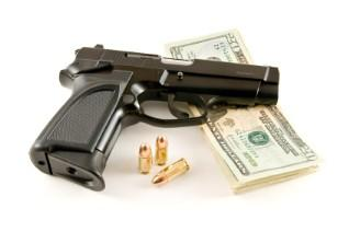 Handgun, Bullets and Money