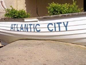 Atlantic City written on a boat