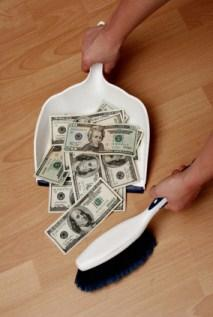 cleaning up money