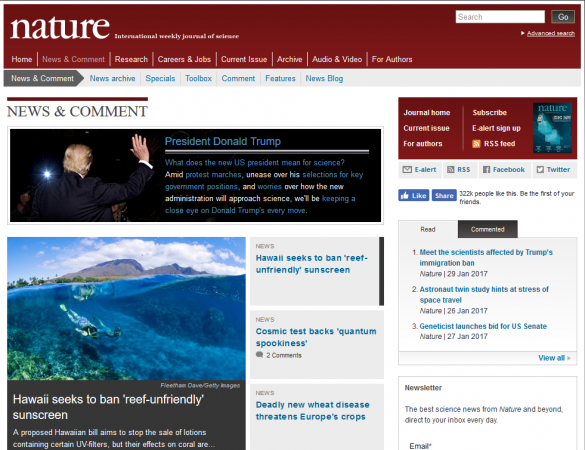 nature.com screenshot
