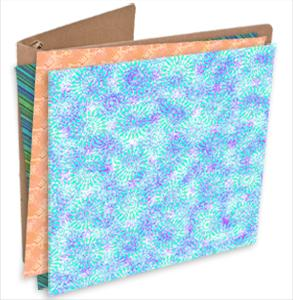 chipboard binder with fabric samples