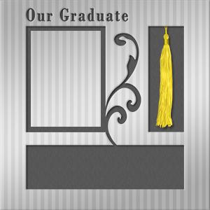 Printable graduation scrapbook layout