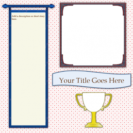 trophy scrapbook template