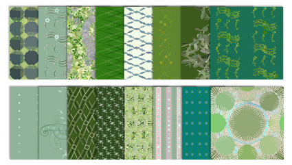 green digital scrapbook patterns