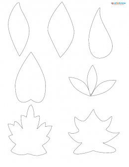 Leaf patterns for scrapbooking