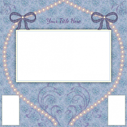 Wedding scrapbook layout template