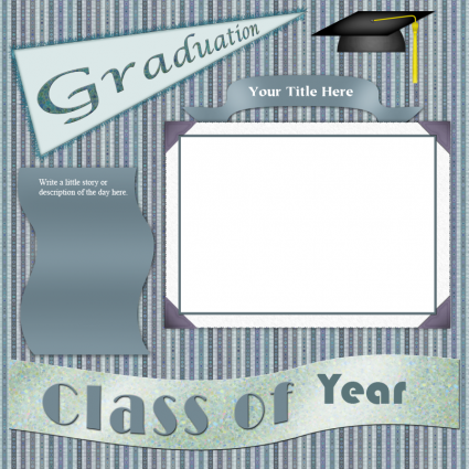 Scrapbook layout for graduation
