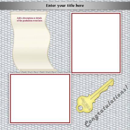 graduation scrapbook layout