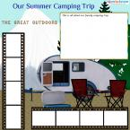 camping scrapbook page template