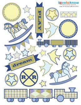 digital scrapbook stickers