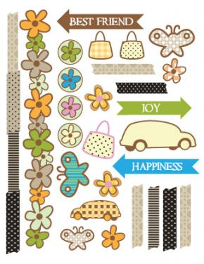 printable scrapbook stickers