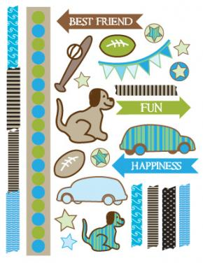 Sizzling image inside free printable stickers for scrapbooking